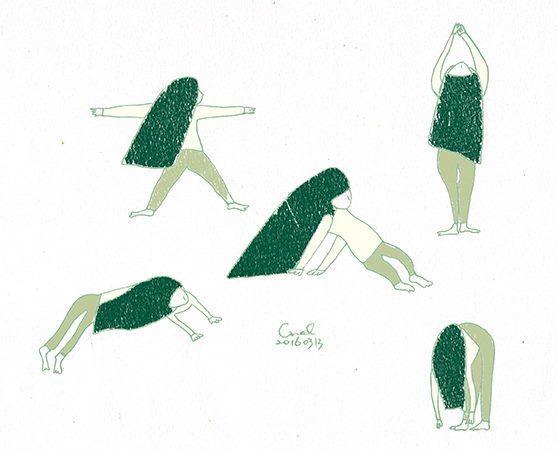 〈 dot dot 〉 冷冷的天氣,拉拉筋做點瑜伽,跟自己好好相處。