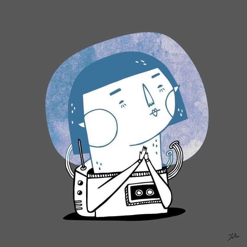 〈 y.zhen 深夜日常 〉  太空旅行 /  安靜的,輕飄飄的 只留下微微類似星星的光點而已