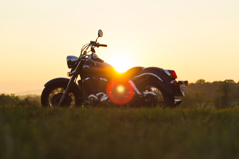 Sunset summer motorcycle