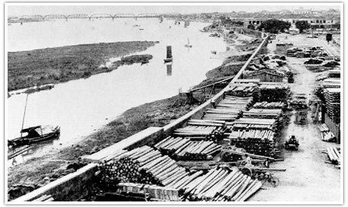 艋舺運送福州杉的碼頭