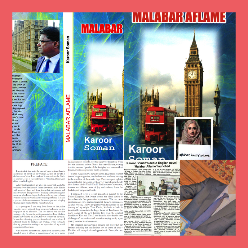 Author karoor soman english novel malabar aflame