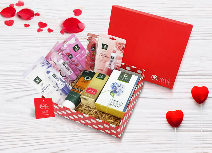 Organic harvest  valentine s day hamper