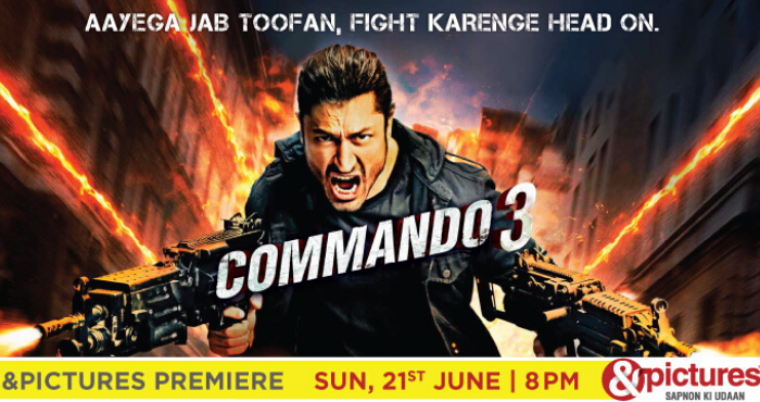 pictures premiere of commando 3