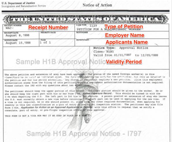 I 797 approval notice